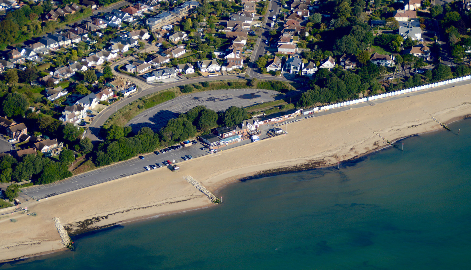 Aerial View of Avon Beach, Christchurch. Picture by Stephen Bath.