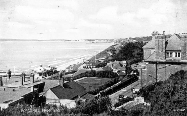 This postcard of Boscombe Pier approach viewed from the east,  circa 1943, gives a view of the changed developments above the Bosocombe Promenade, the postcard was submitted from the  Alan Cook Collection.