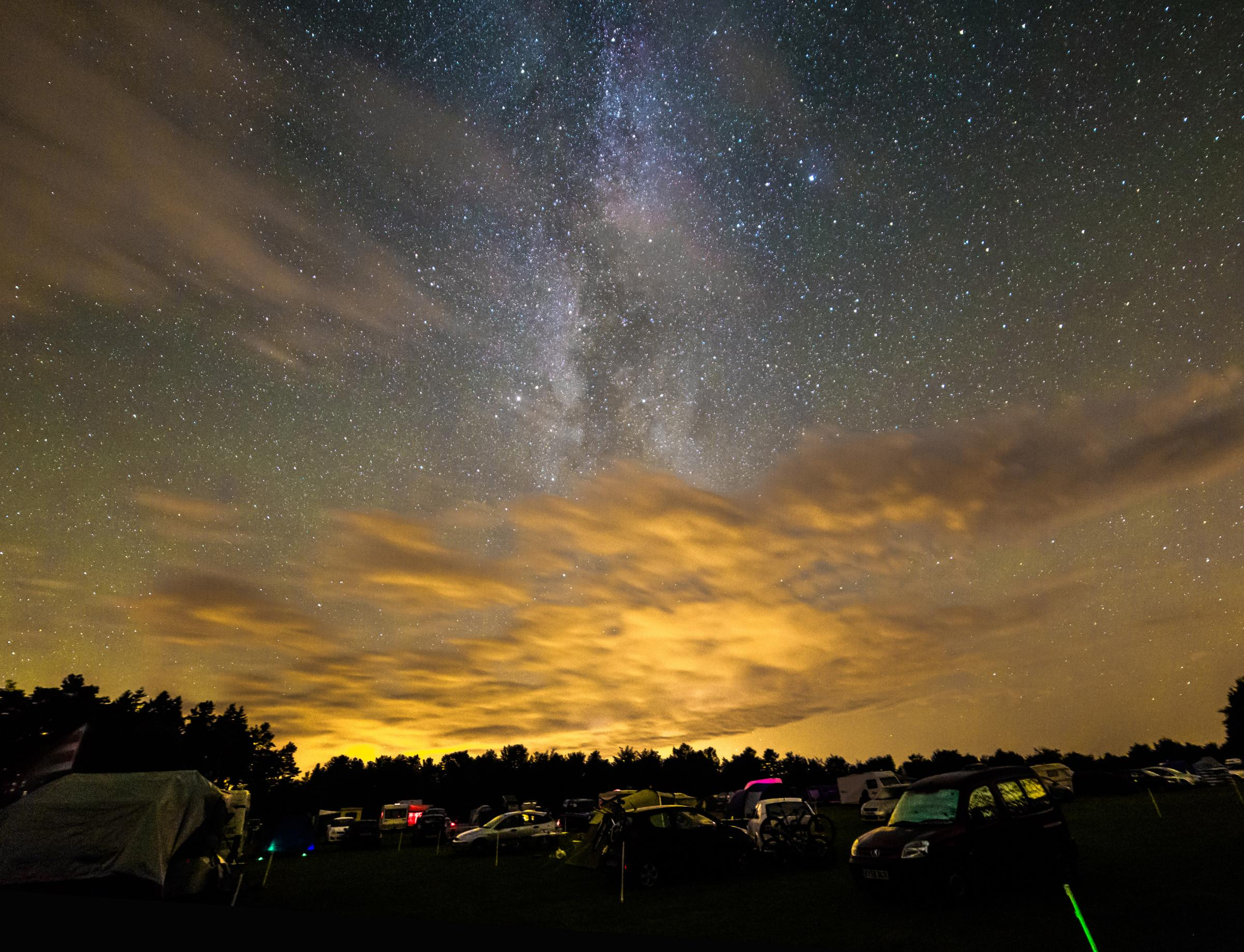 Light pollution can badly degrade the night sky and rob us of our starry skies and view of the Milky Way.