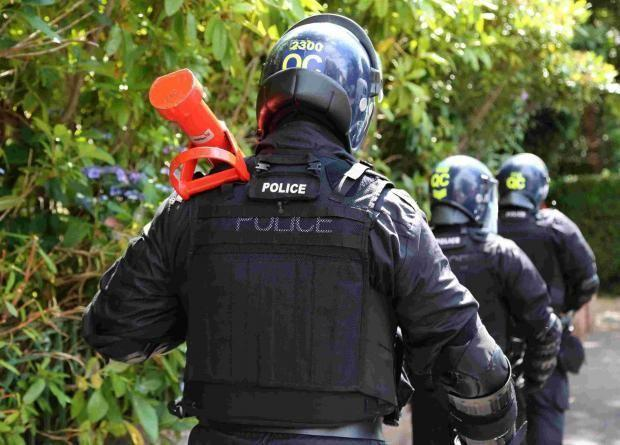 Dorset Police on a drugs operation