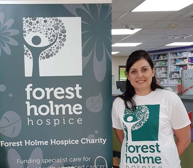 Sammy-Jo Stanley, who has first-hand experience of Forest Holme Hospice's care
