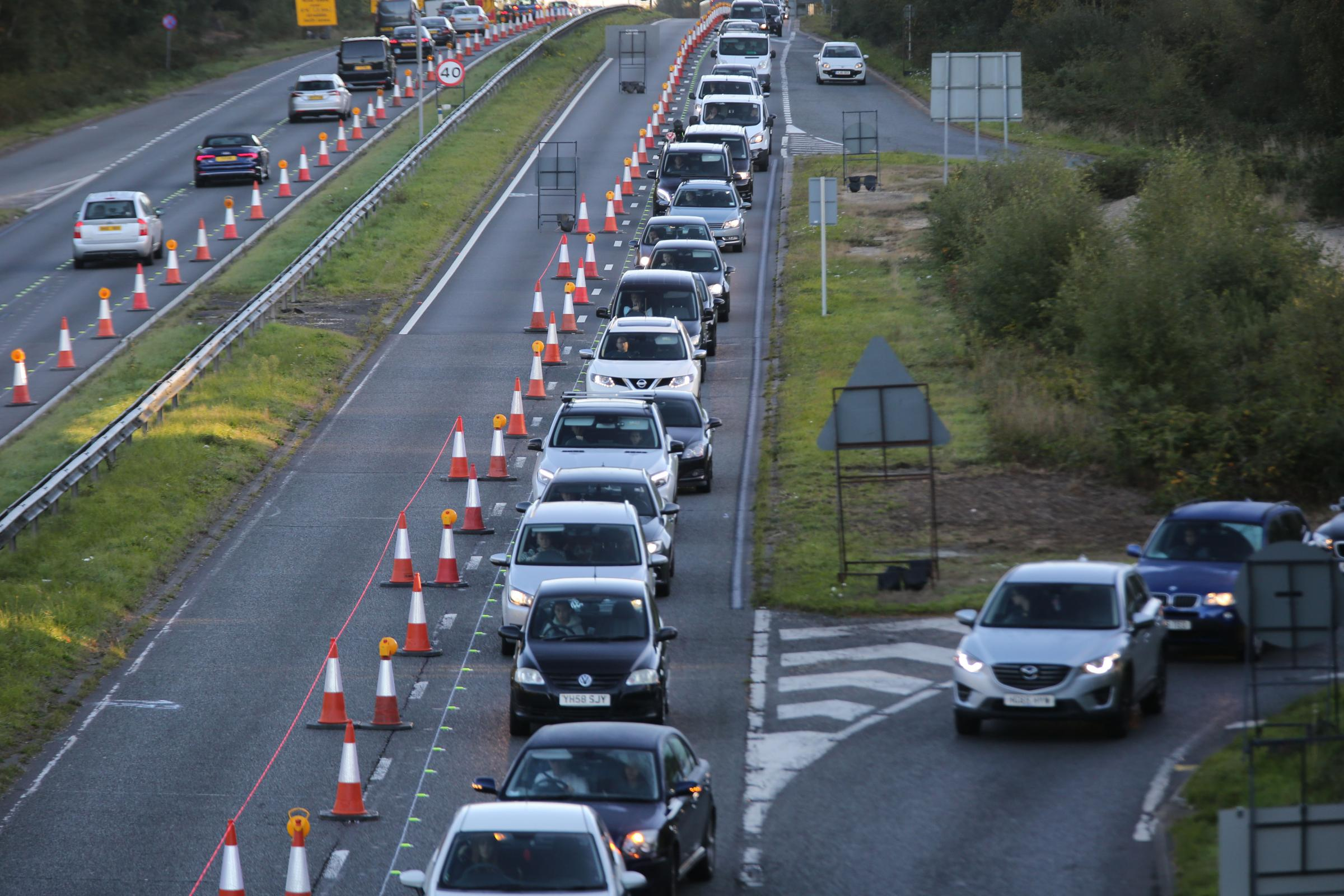 The A338 roadworks
