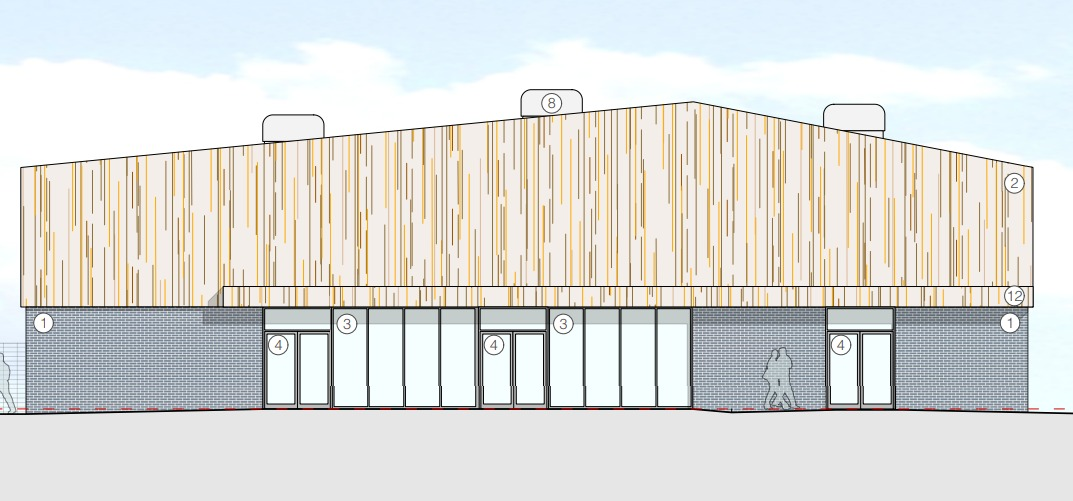 Plans for a new hall at Ringwood School