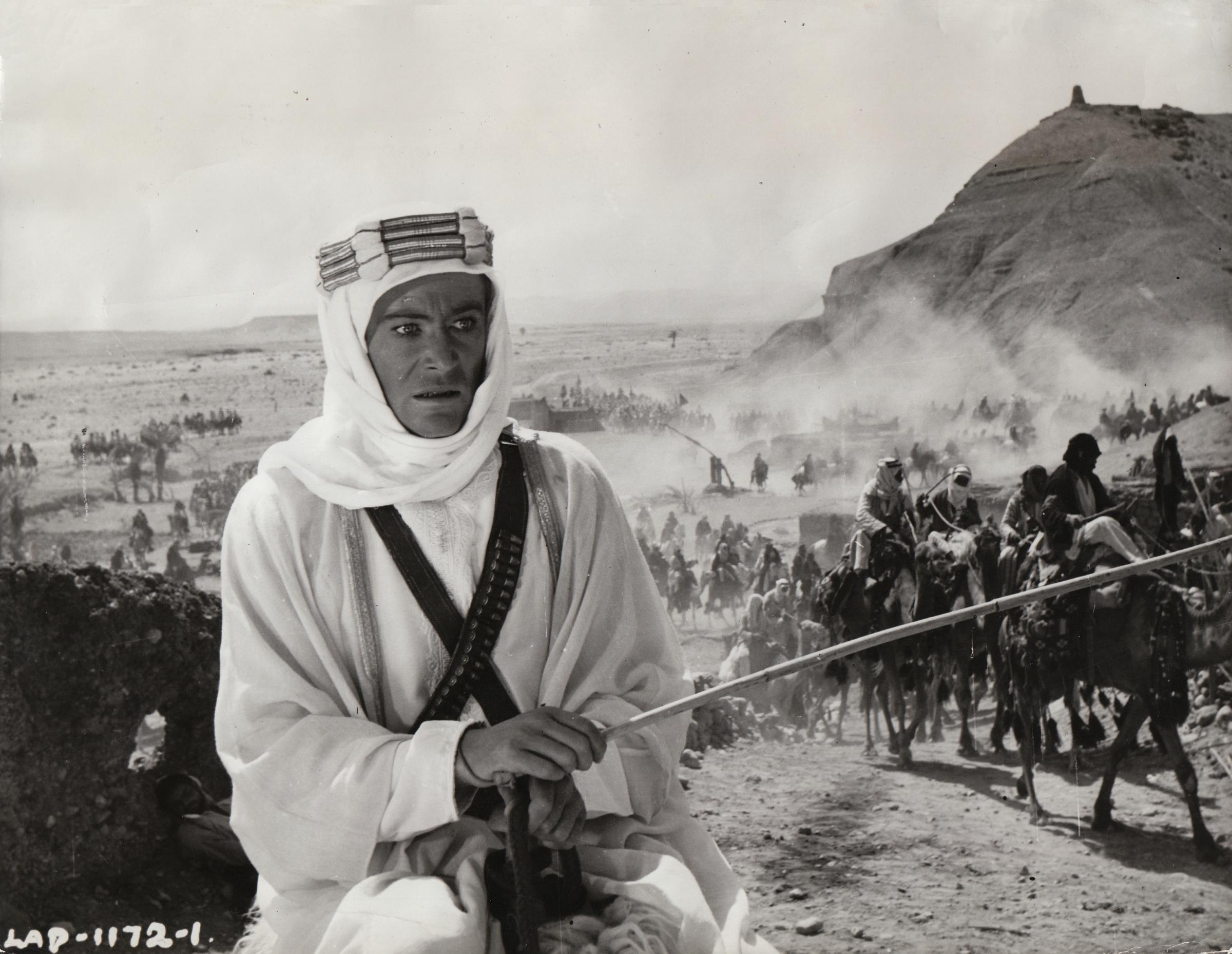 Peter O'Toole as T.E. Lawrence in the 1962 film Lawrence of Arabia.