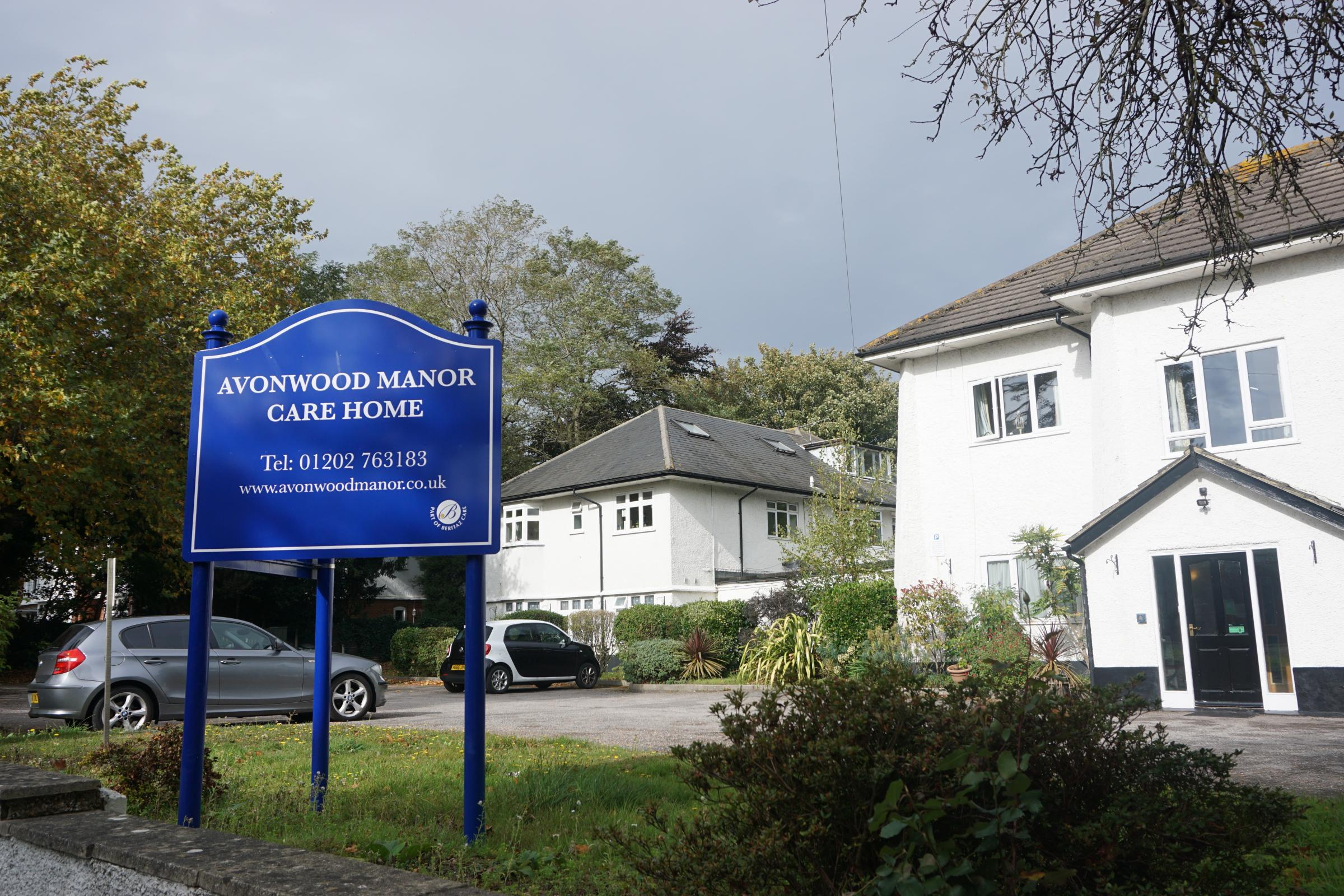 Avonwood Manor nursing home in Nelson Road, Poole