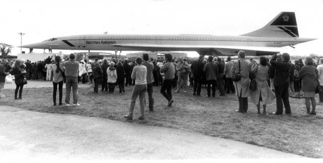 History was made on April 21st 1996 as Concorde touched down at Bournemouth International Airport for the first time.  Thousands looked to the sky as the word famous aircraft made her descent and traffic was bought to a standstill for several hours. The s