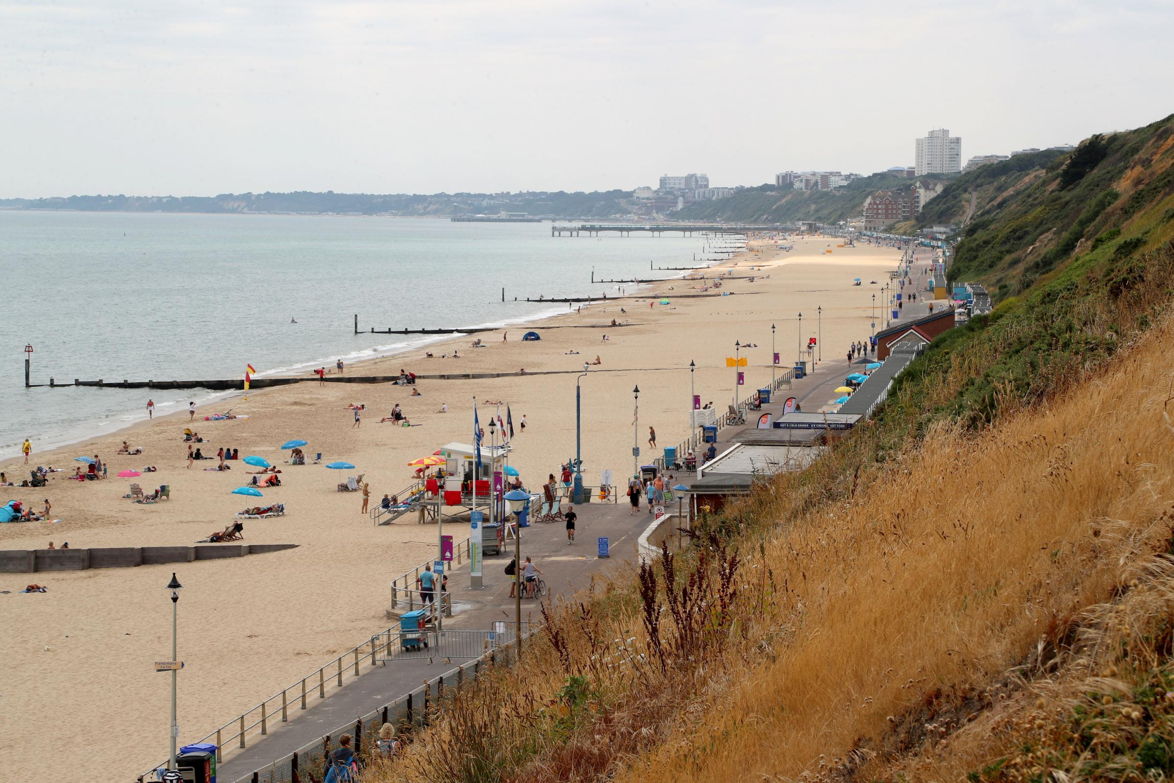 The beach by the Fisherman's Walk cliff lift in Southbourne