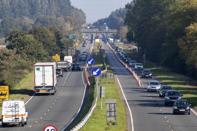Work on the A338 Spur Road will halt for Christmas