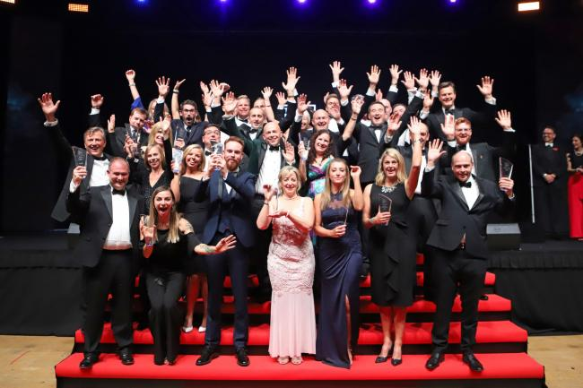 TROPHIES: The winners of the 2018 Dorset Business Awards