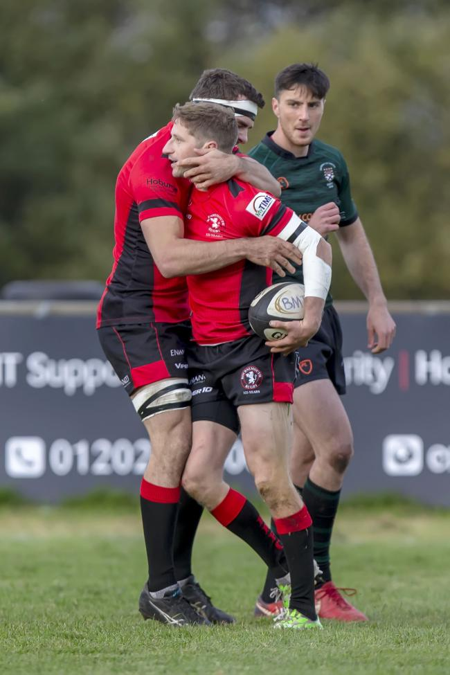 TRY TIME: Sam Hardcastle touched down to help Bournemouth fight back for victory over Camborne (Picture: Simon Carlton)
