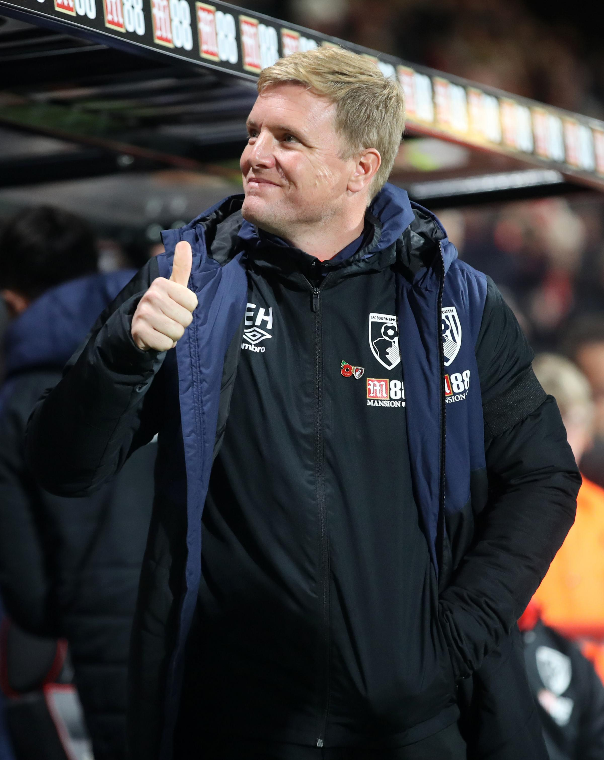 GONG: Eddie Howe (Picture: Adam Davy/PA)