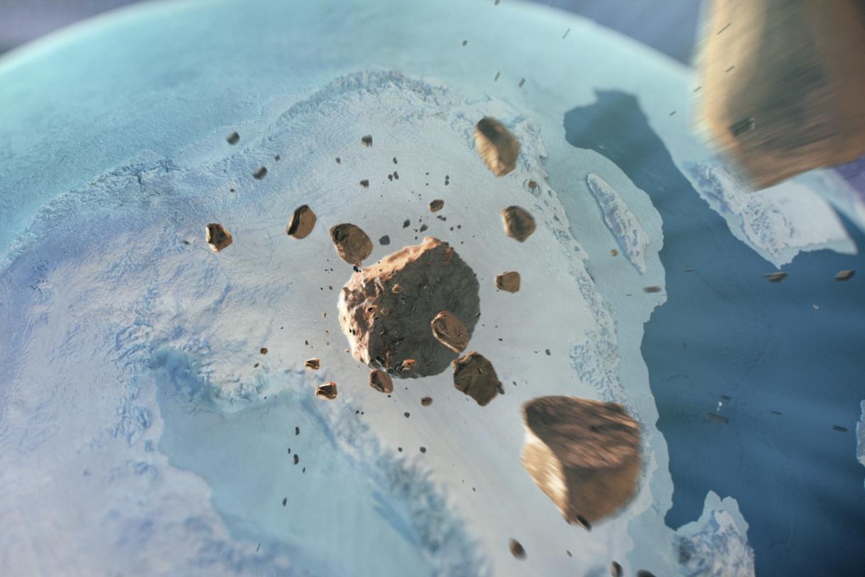 在格陵兰岛下面发现了比巴黎更大的巨型陨石坑