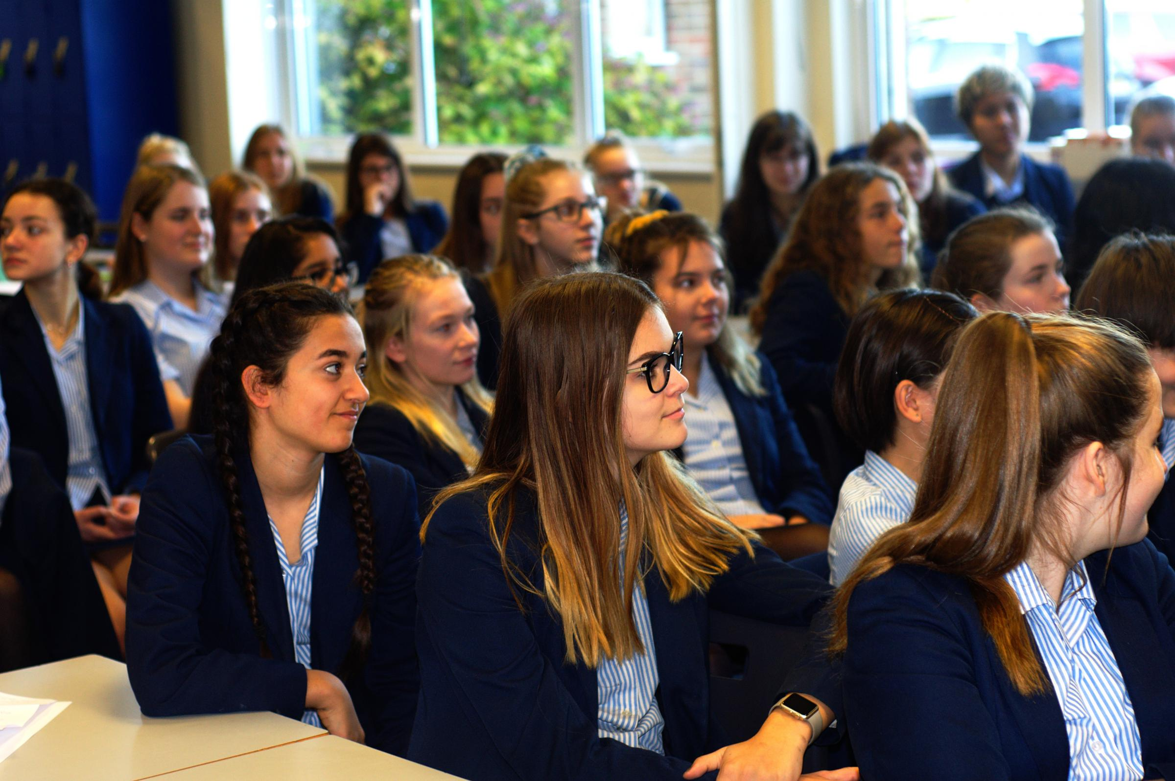 Staff from Redweb visited Bournemouth School for Girls on Digital Day