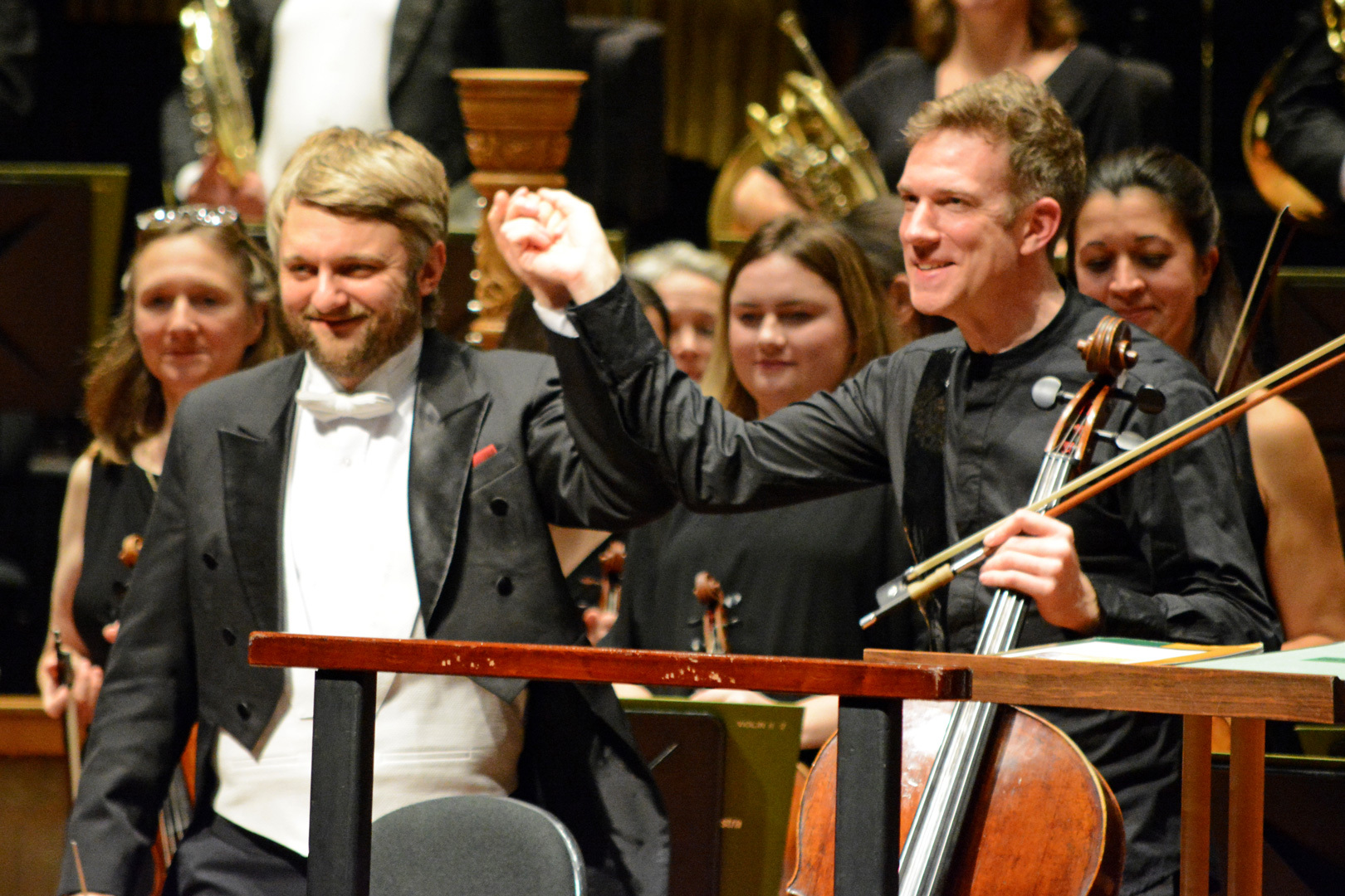 BSO conductor Kirill Karabits with Johannes Moser