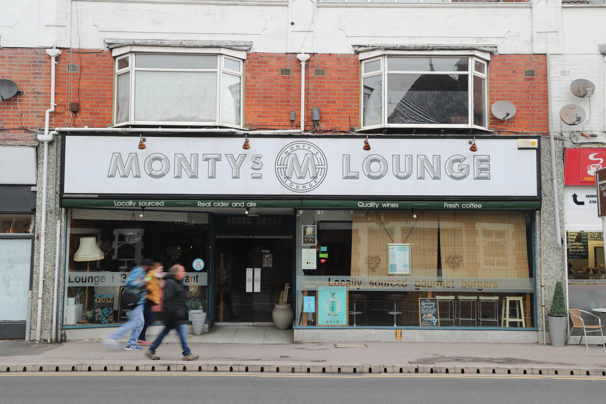 Monty's Lounge at Christchurch Road in Pokesdown