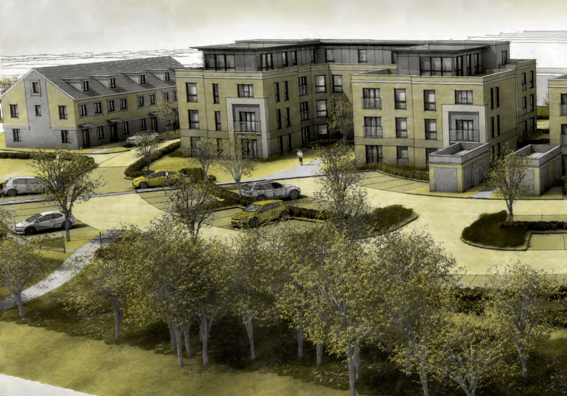 A CGI of the proposed Sopers Lane development
