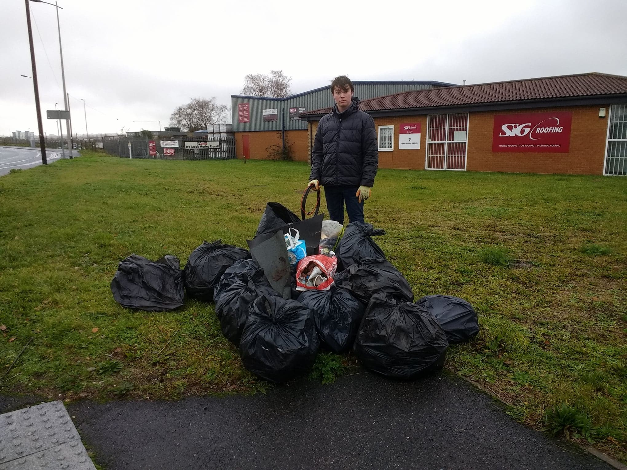Residents in Hamworthy carried out a litter pick in Rigler Road and collected 17 bags of rubbish
