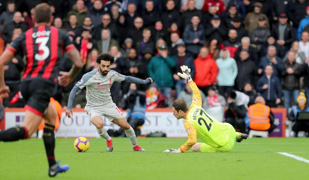 bdc3796251b Egyptian star Mohamed Salah hits hat-trick in emphatic Liverpool win ...