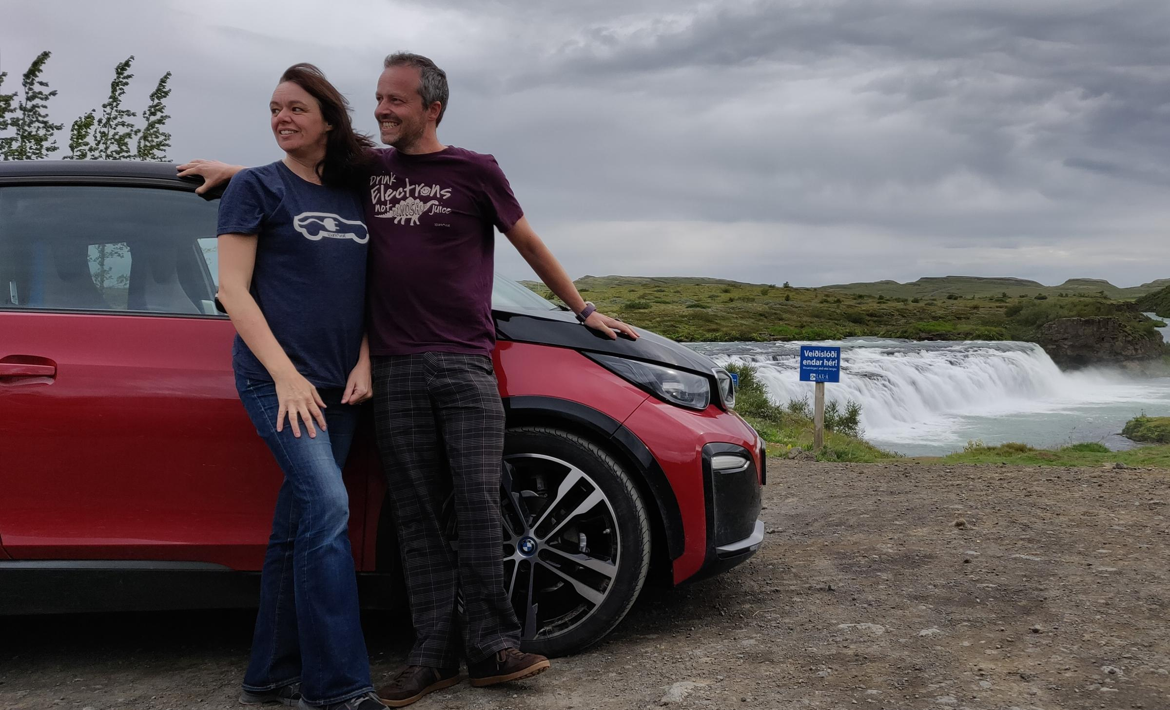 Natalie and Rob Carswell are believed to be the first couple from the UK to complete Icelands Route One in an electric car