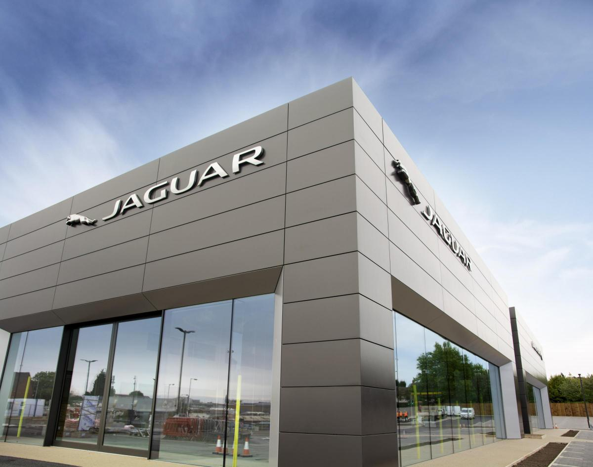 Euro Sceptic Firm Builds Jaguar Land Rover Showroom Bournemouth Echo