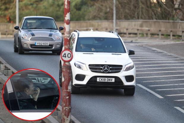 Bournemouth Echo: Drivers spotted using mobile phones while travelling along the A338 Wessex Way under the Richmond Hill flyover.