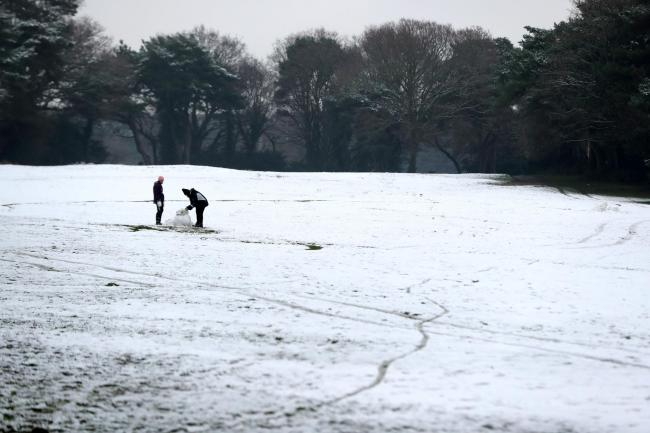 Do you want to build a snowman? sleet and snow is forecast for this weekend