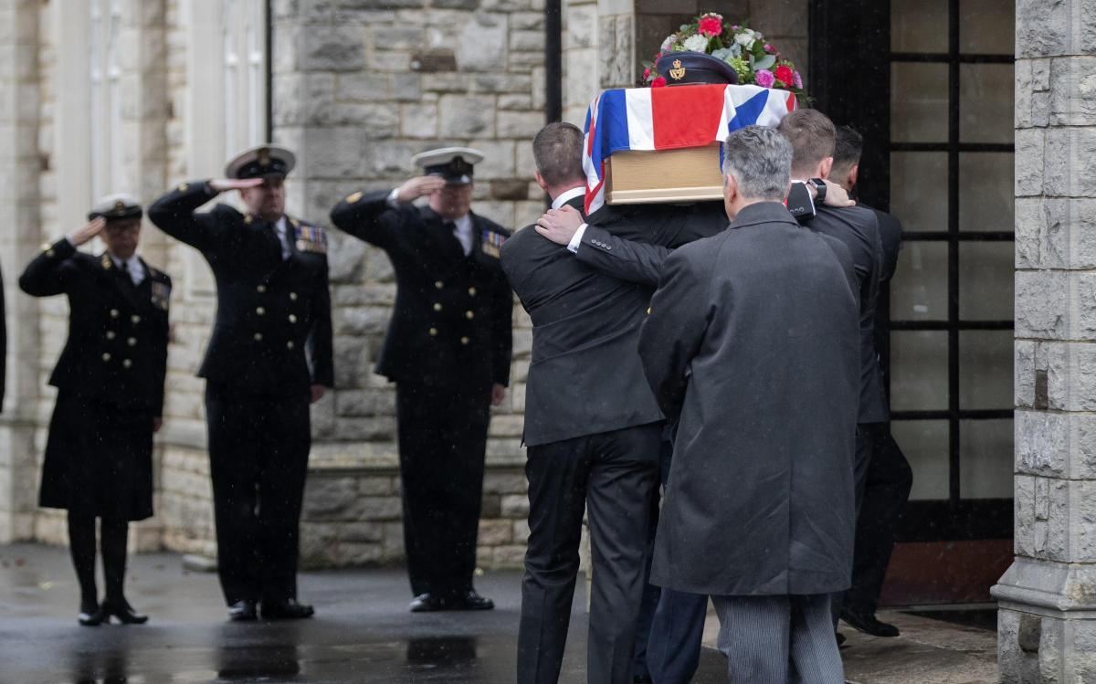 Dunkirk Veteran Arthur Taylors Funeral At Bournemouth Crematorium
