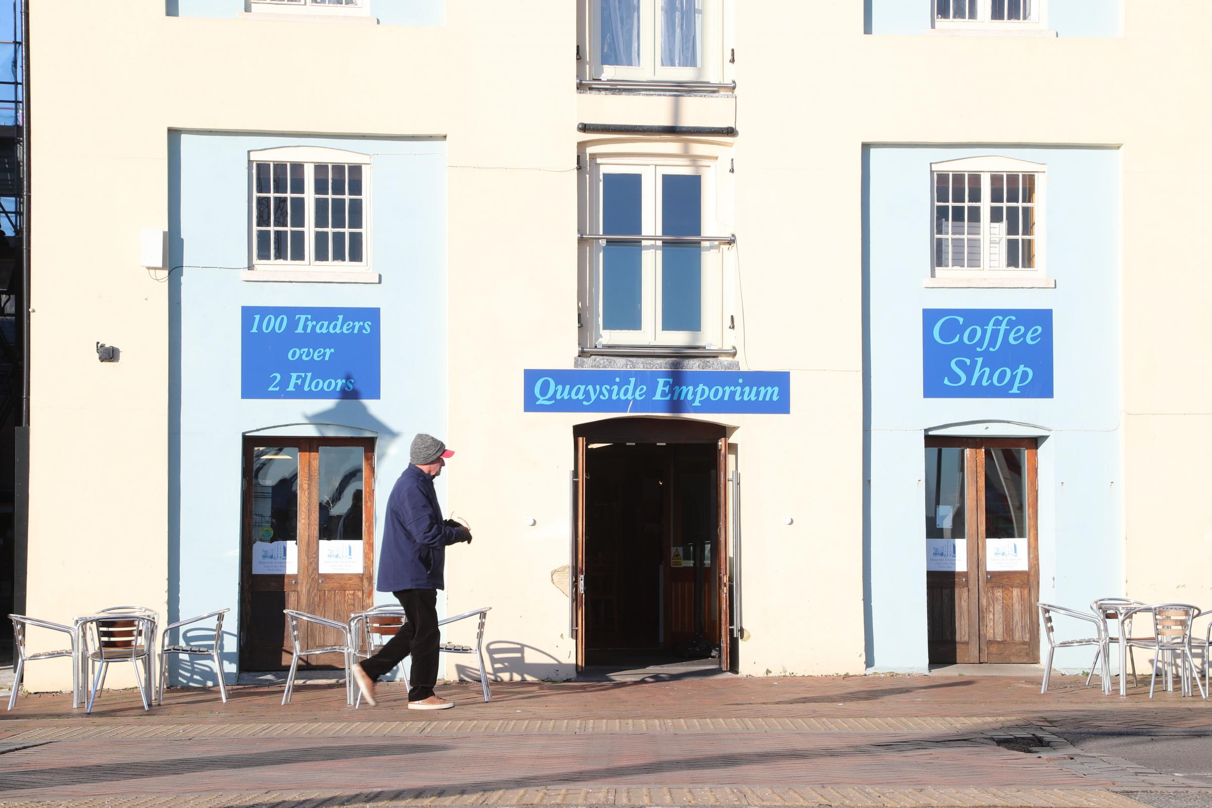 Quayside Emporium has closed on Poole Quay due to 'poor health of the director'