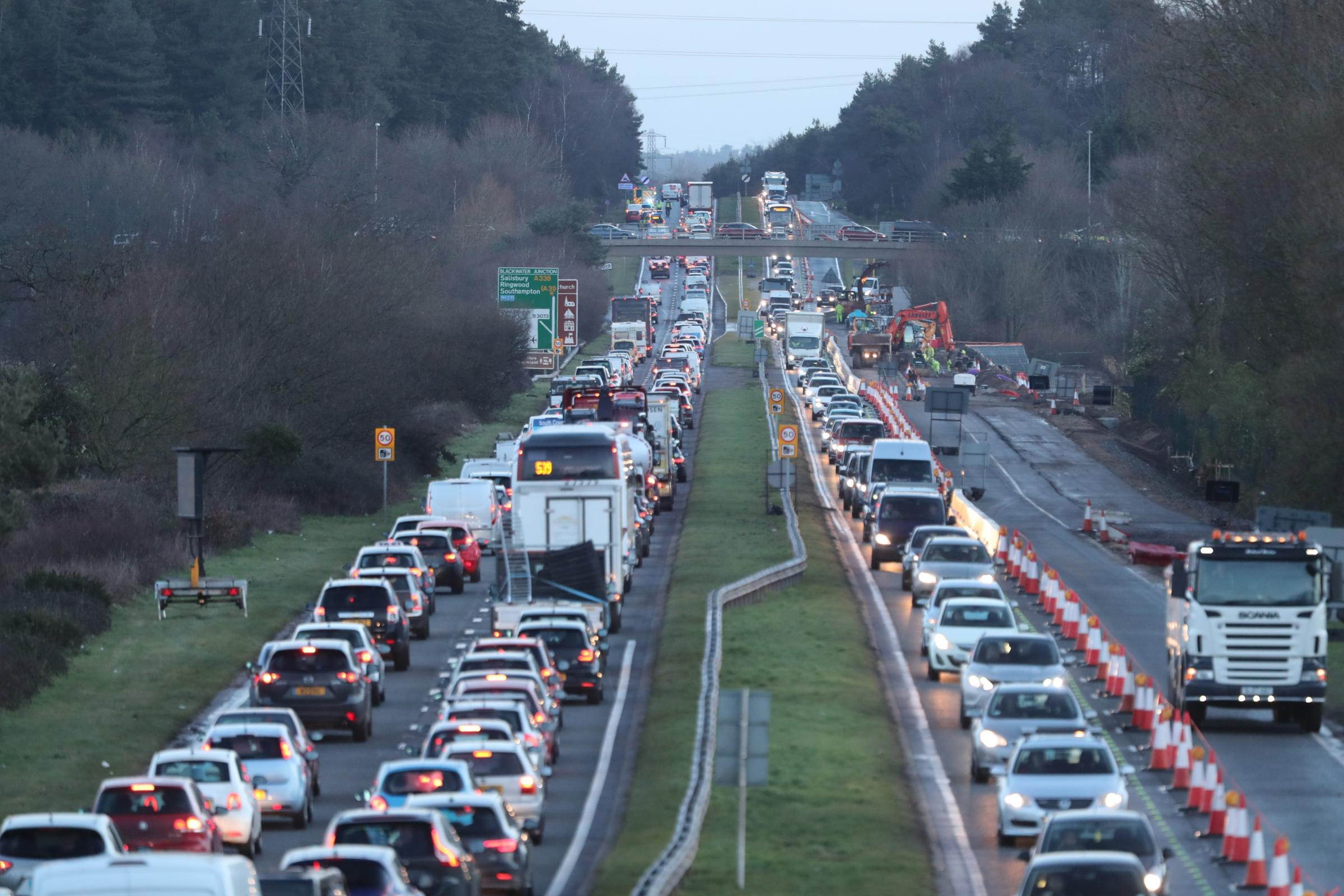 One taken to hospital after five-vehicle crash on the A338