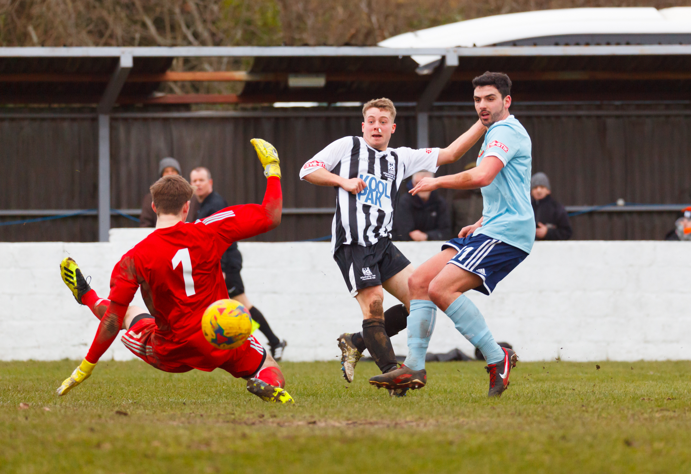 ON TARGET: Luke Holmes scored in the second half for Wimborne (Picture: WTFC)