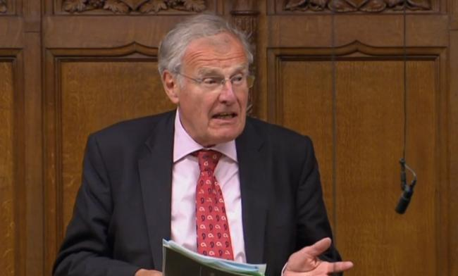 Sir Christopher Chope speaking in the House of Commons, London as Government-backed plans to criminalise upskirting have been derailed after being opposed by the Conservative grandee. PRESS ASSOCIATION Photo. Picture date: Friday June 15, 2018. There were
