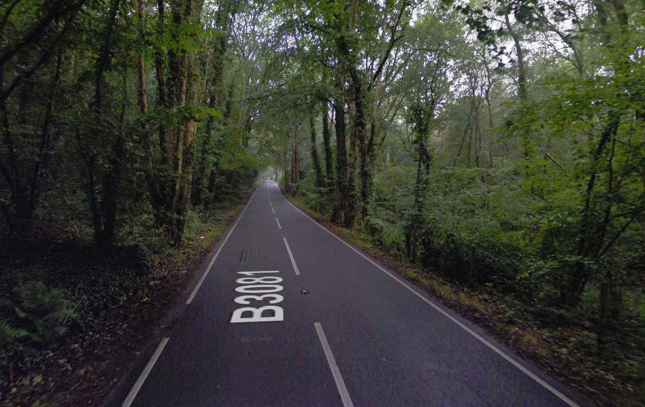 The B3081 between Verwood and Cranborne. Picture: Google Street View.