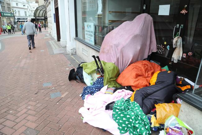 Rough sleepers in Bournemouth town centre