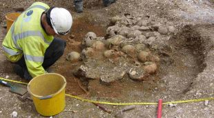 SCENE OF SLAUGHTER: Archaeologists uncover unique burial pit