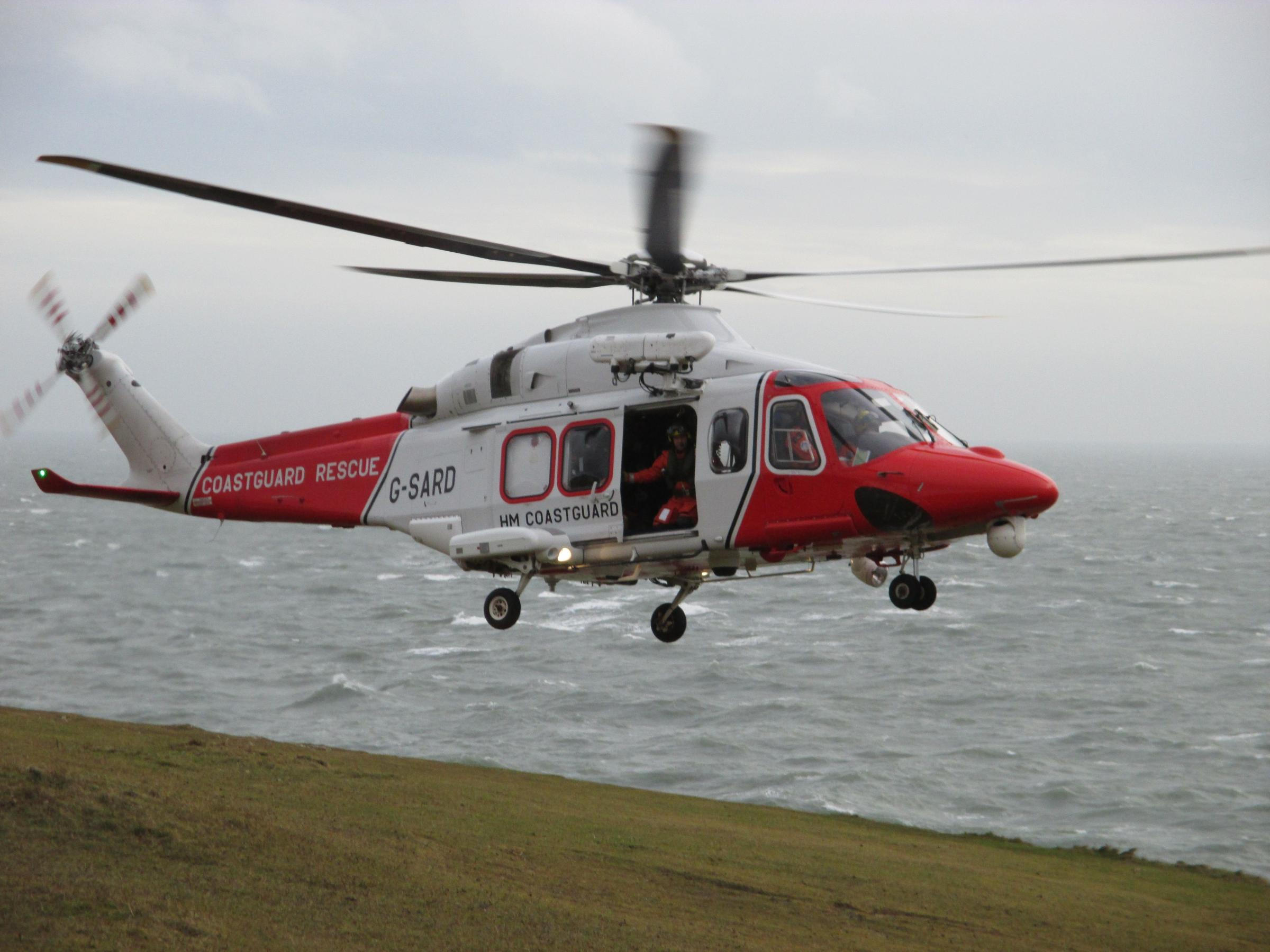 Climber winched to safety after falling on to ledge near Swanage