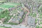 An artist's impression of the development in Gillingham