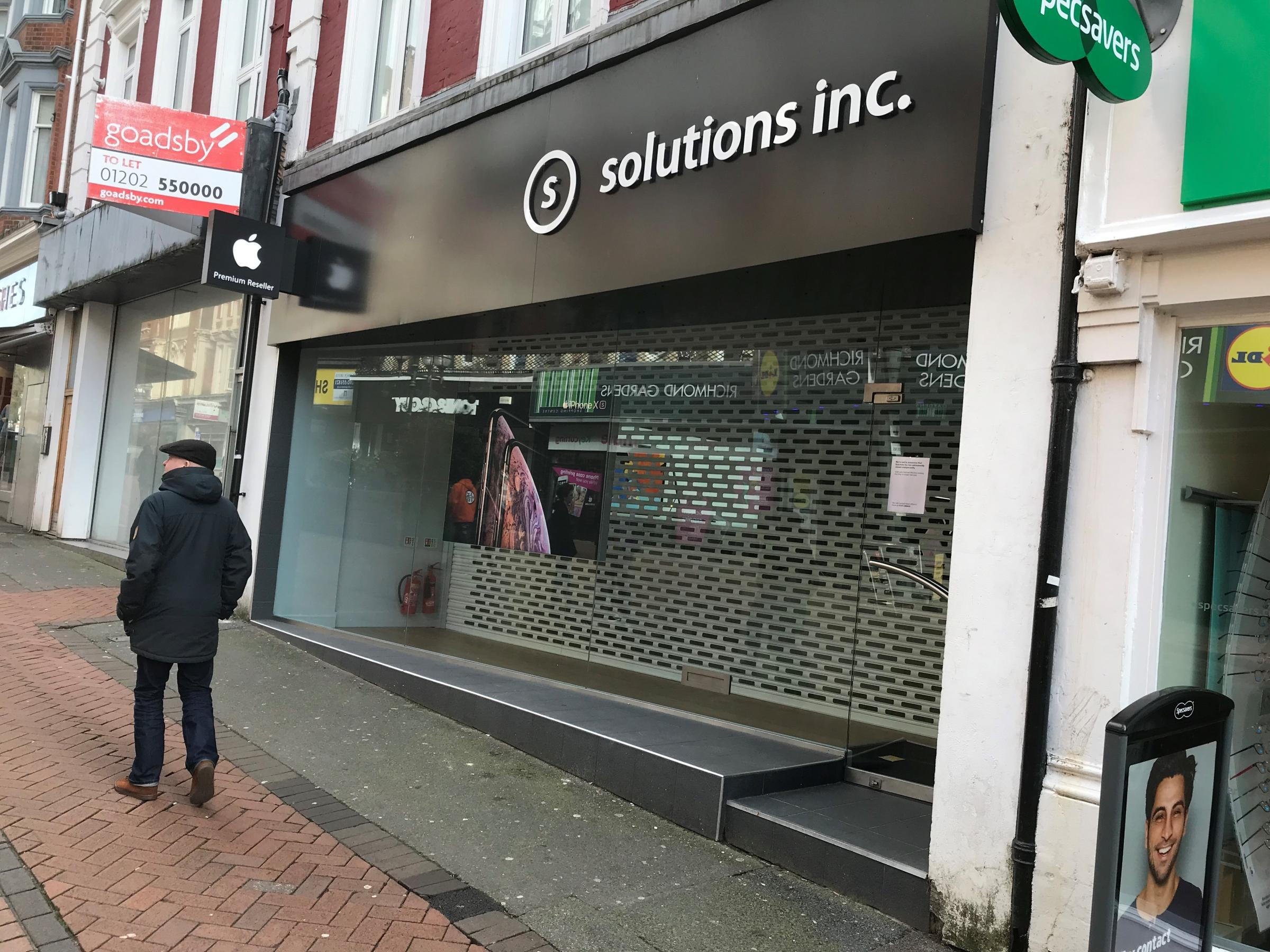 Solutions Inc in Bournemouth has closed unexpectedly