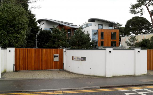 Houses at Banks Road in Sandbanks.