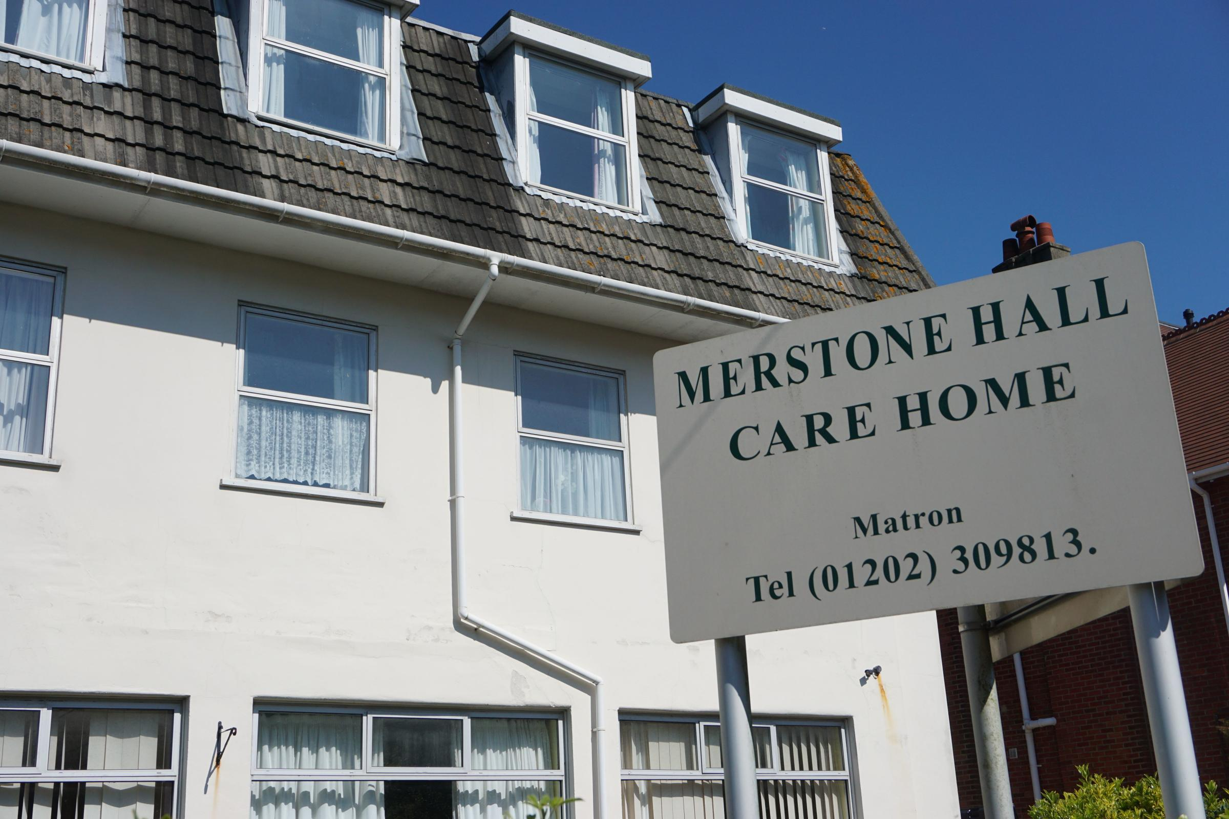 The former Merstone Hall care home in Boscombe