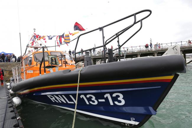 RNLI lifeboat 'George Thomas Lacy' which is based at Swanage and took part in the rescue