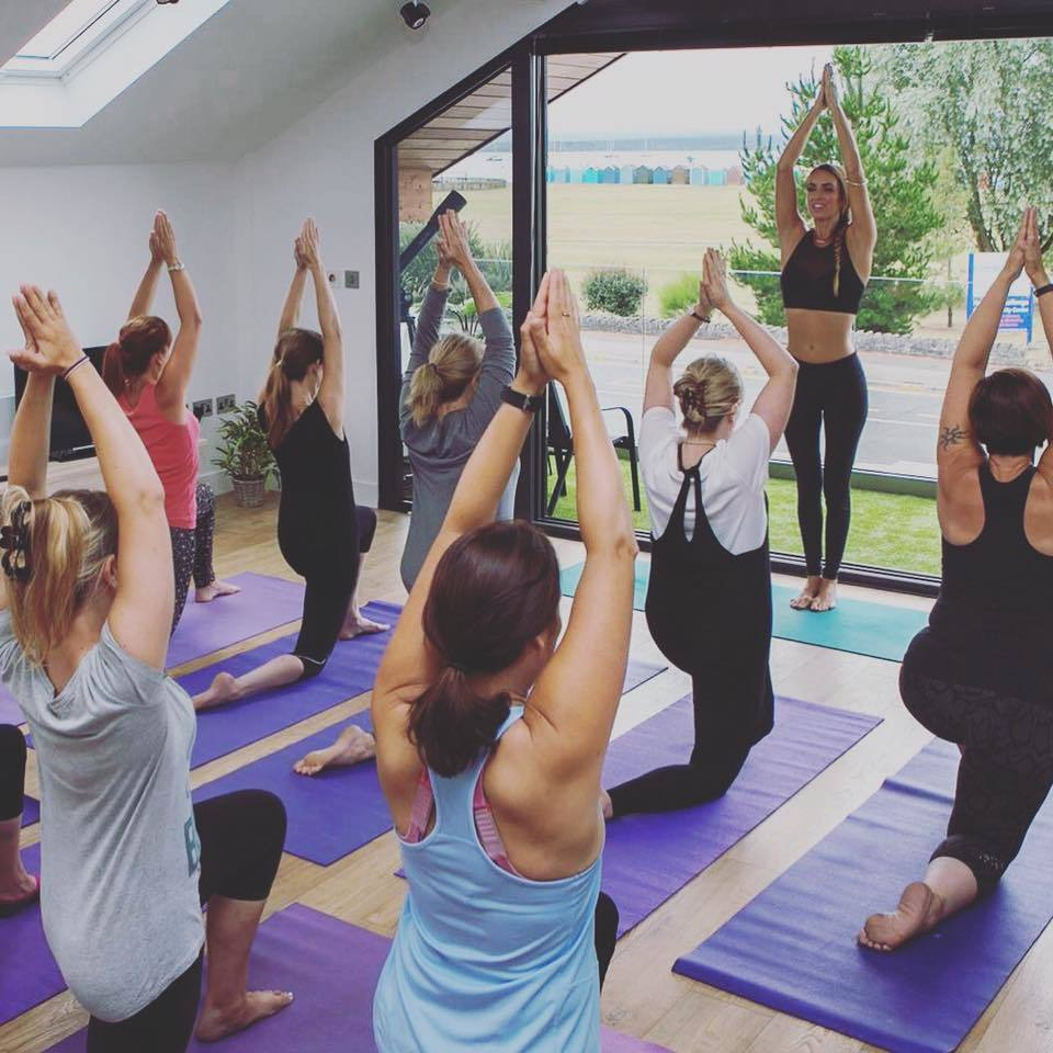 Networking with yoga at Dorset Chamber event