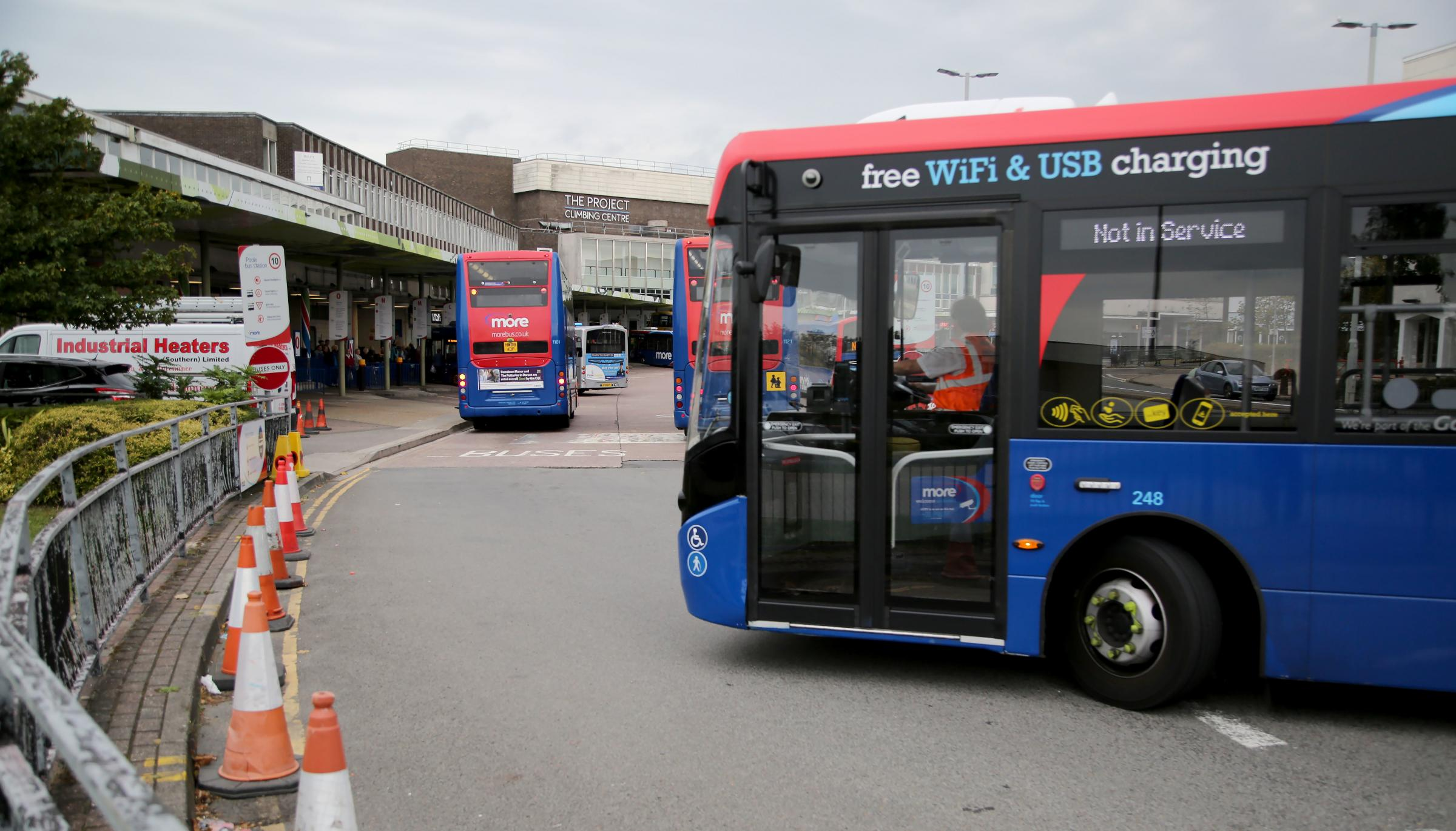 Poole Bus Station in Poole town centre