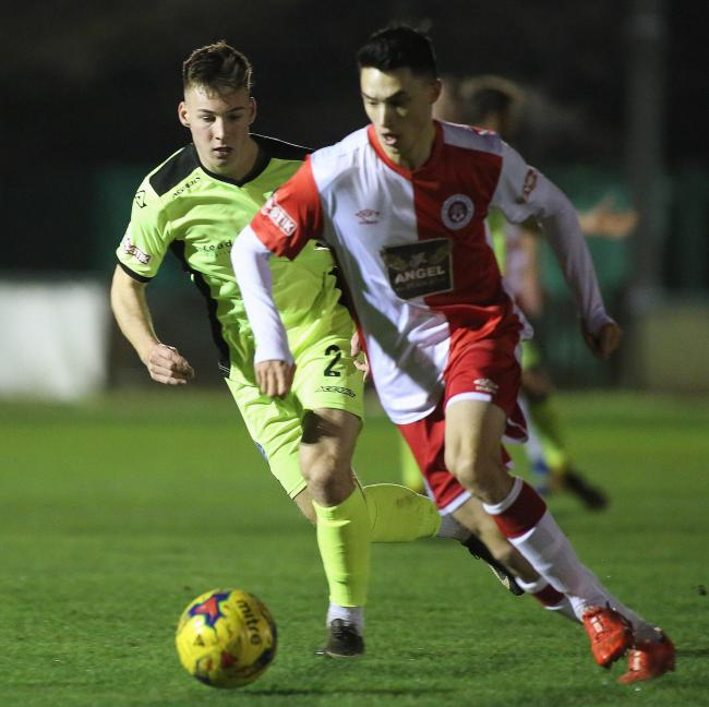 INJURY ISSUE: Poole Town's Luke Roberts may miss the clash with a knee problem (Picture: Andy Orman)