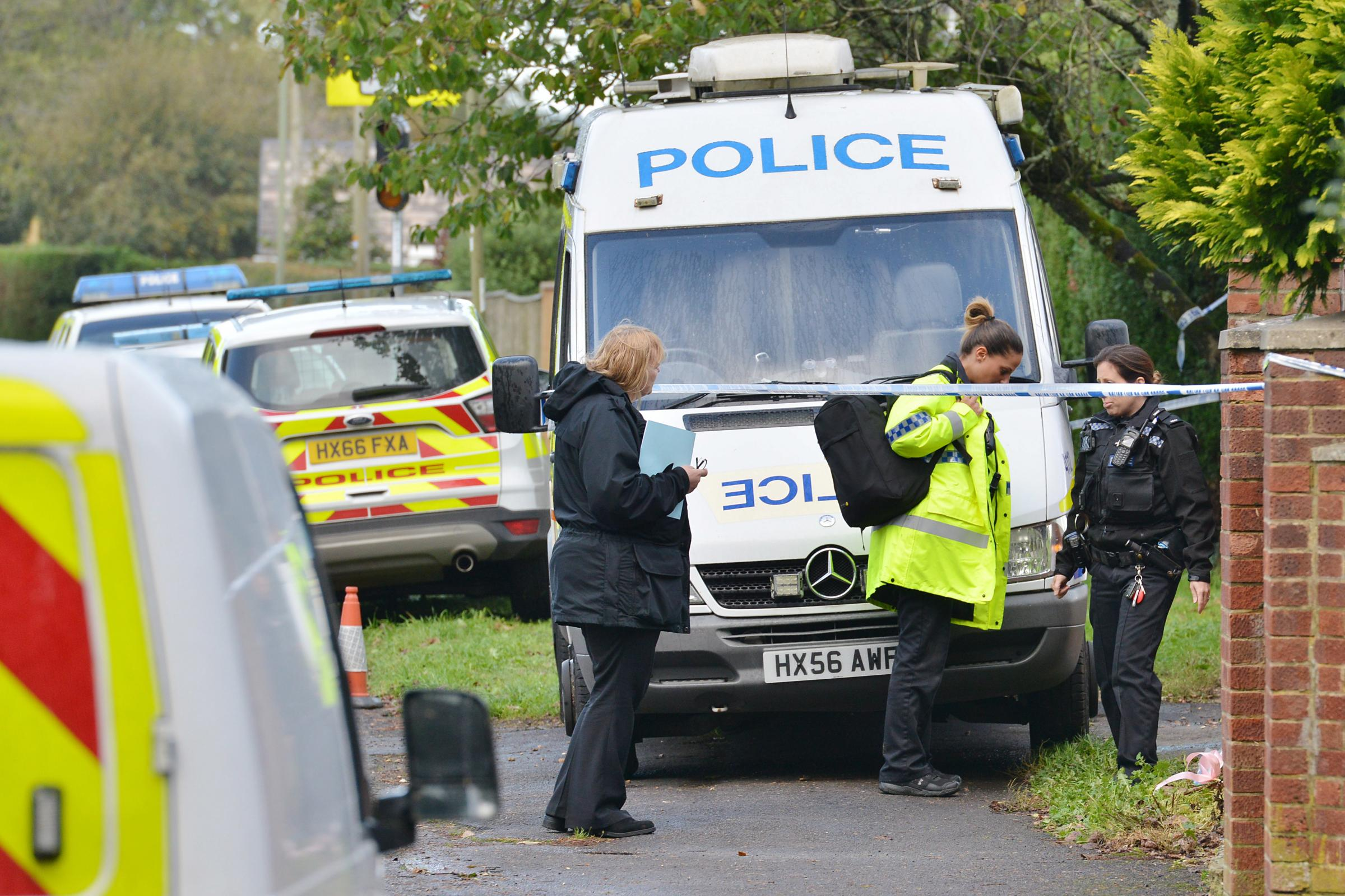 Police in Fordingbridge after Bethan died