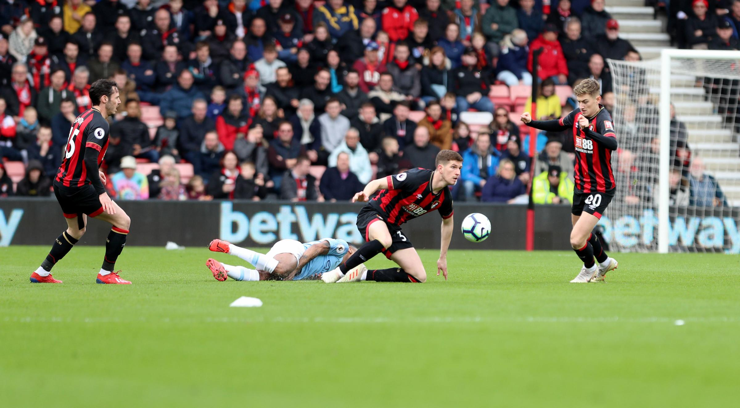 AFC Bournemouth v Manchester City at the Vitality Stadium in Bournemouth. .Chris Mepham. ..