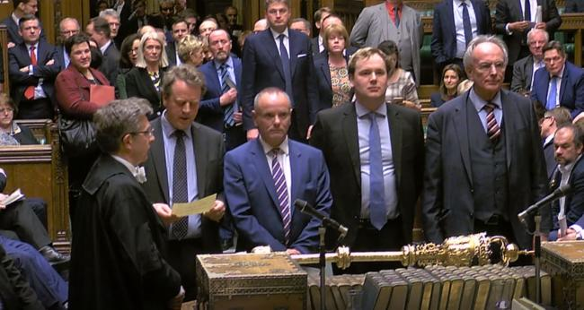 MPs announcing the result of the Brexit vote on Thursday