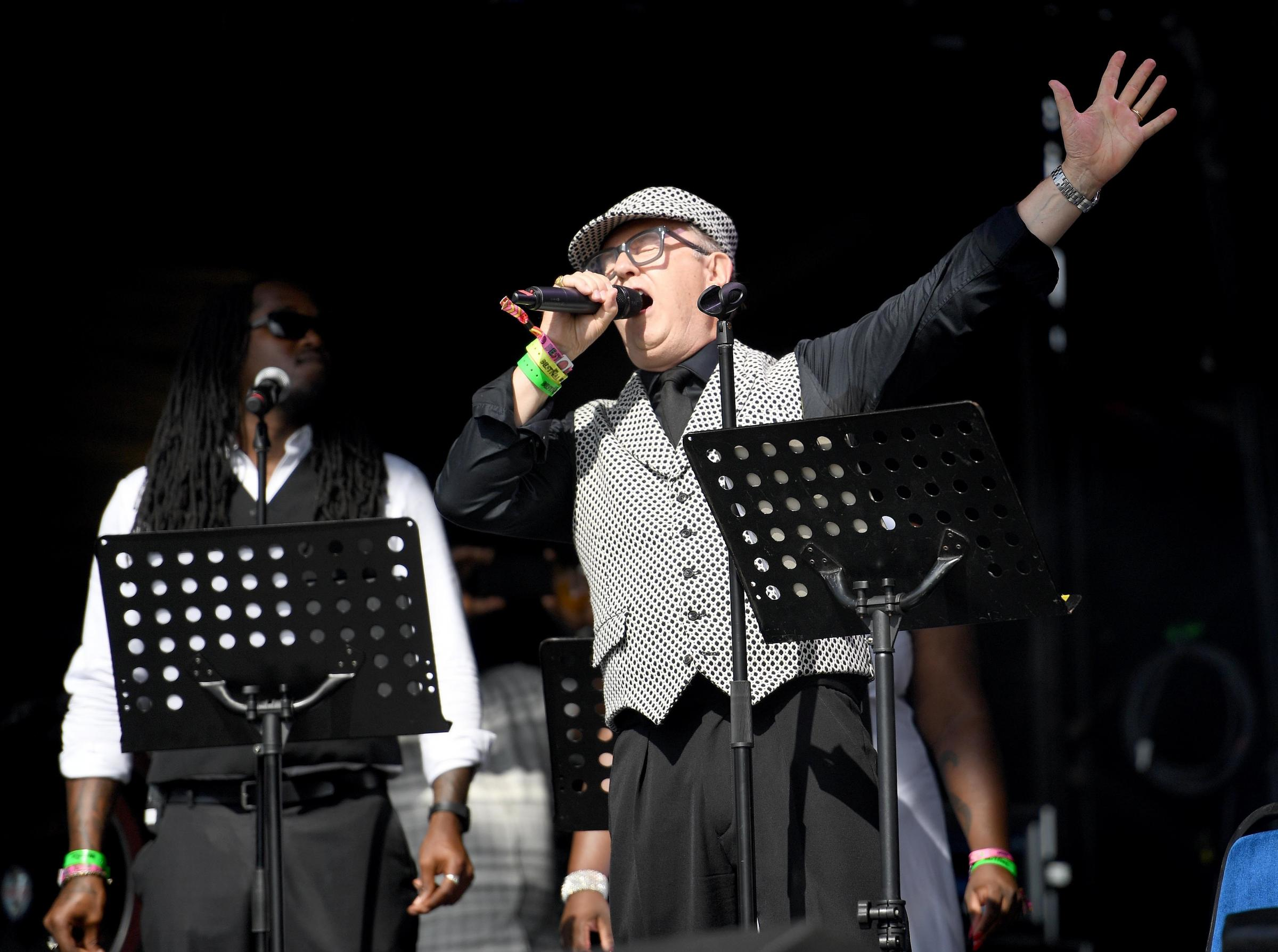 David Rodigan performs on stage at Bestival