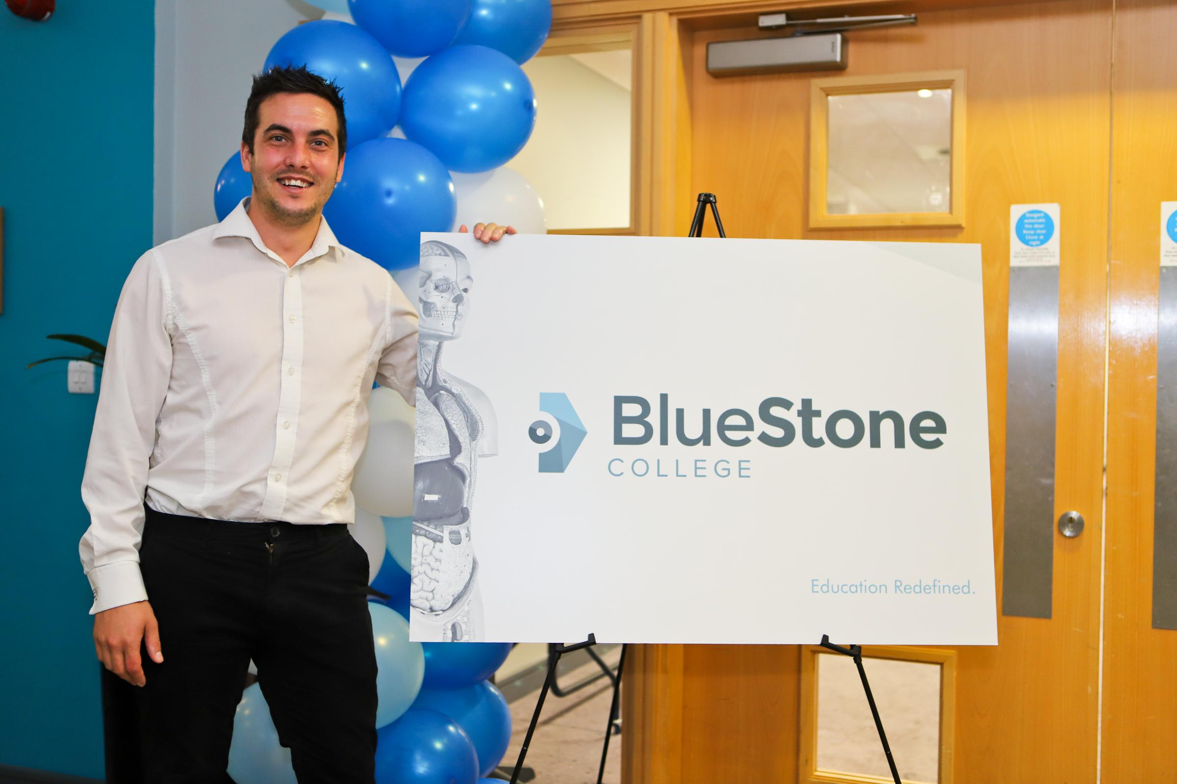 Joe Turner, founder and chief executive of Bluestone College