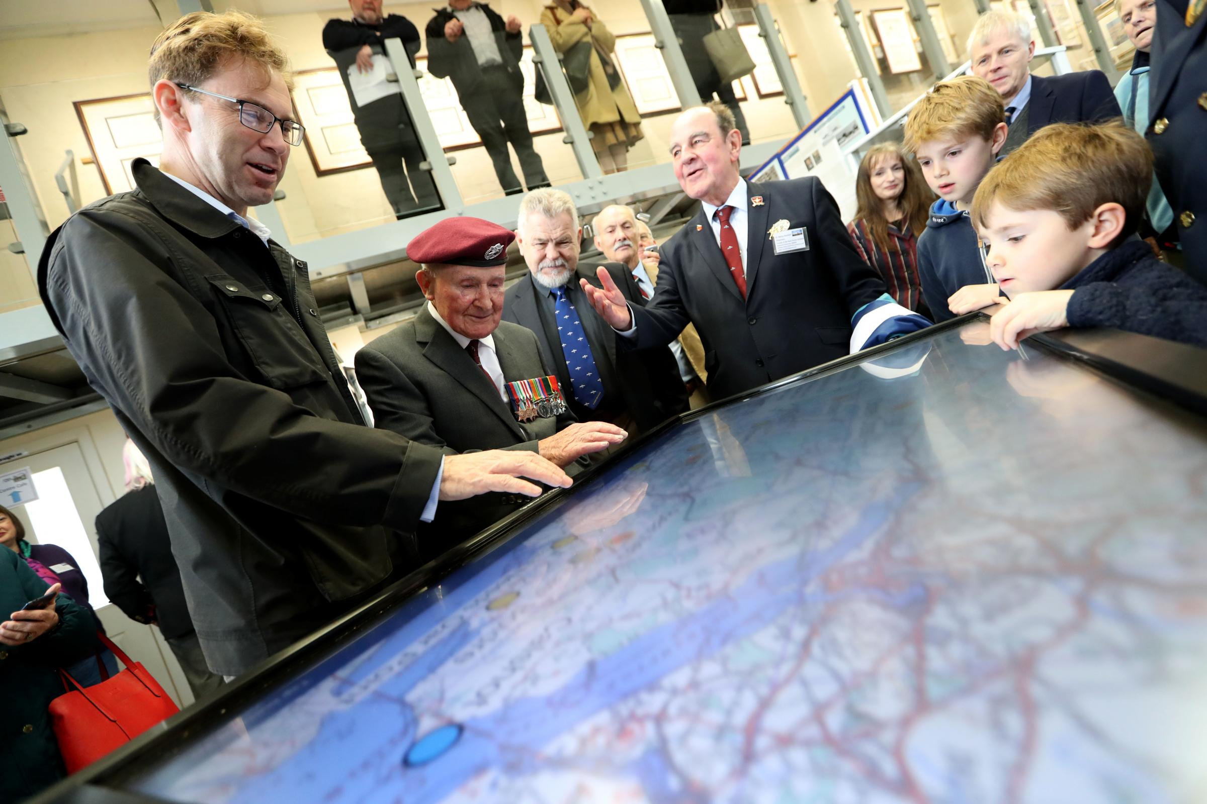 Tobias Ellwood MP officially unveils new touch screens at the Friends of the New Forest Airfields museum