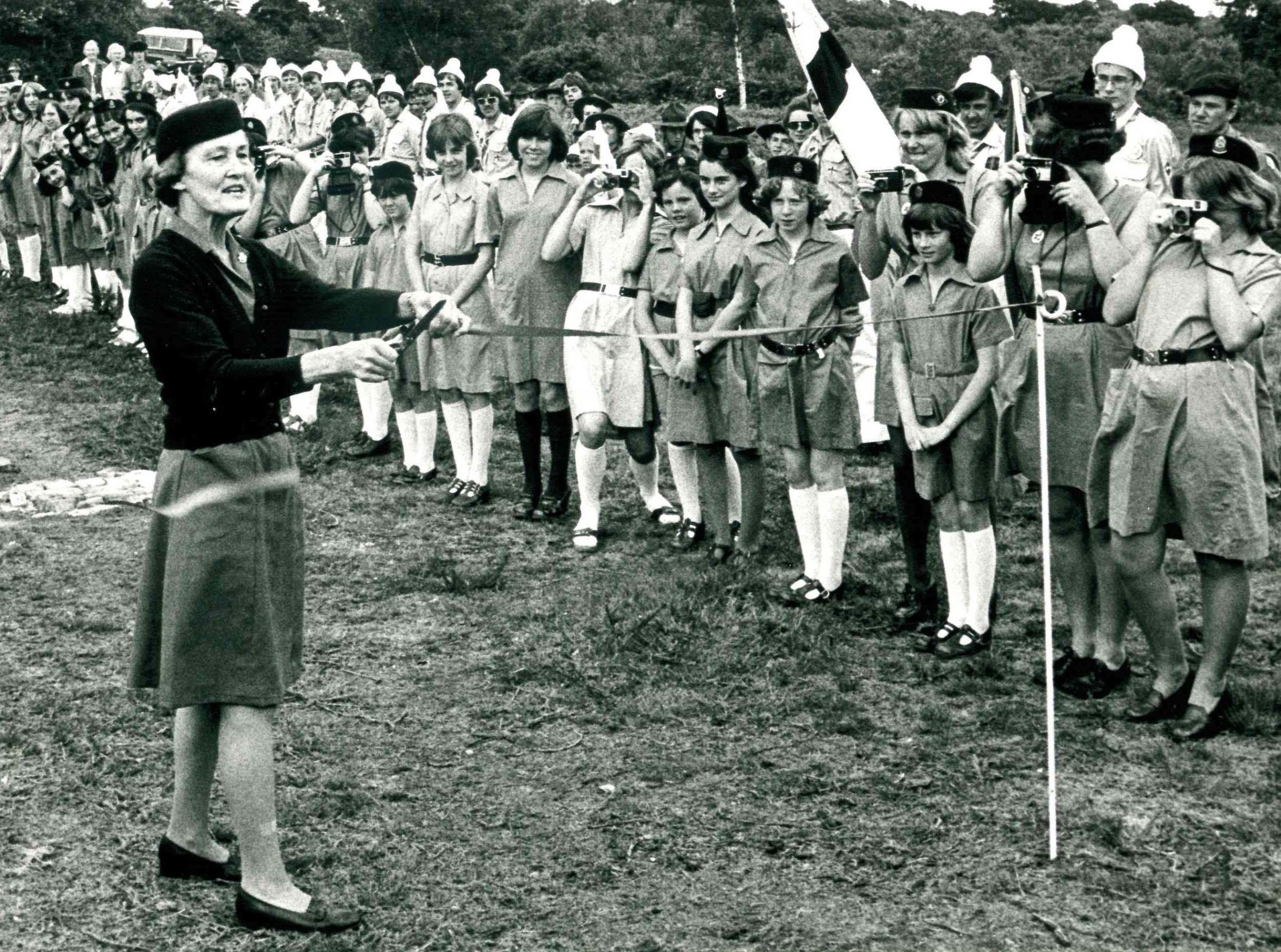 Picture of the Day: New Scout road opened on Brownsea Island in 1977